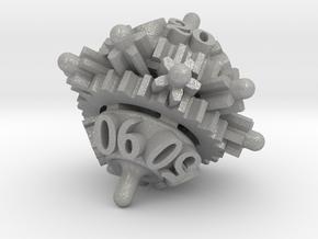 Clockwork Gears Dice in Aluminum: d00