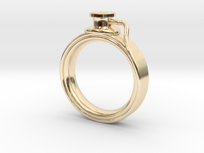 Stethoscope Ring in 14K Yellow Gold: 4 / 46.5