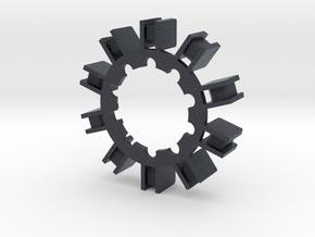 Arc Reactor V1 kit 3/4 - Black ring in Black PA12