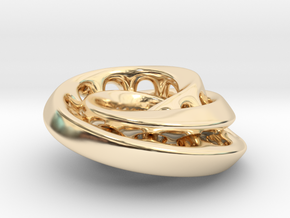 Nested mobius strip in 14k Gold Plated Brass
