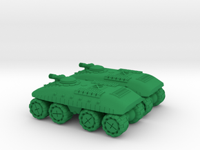 Dragoon Super Heavy Wheeled Armor - 3mm in Green Processed Versatile Plastic