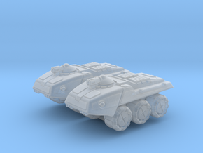 Remington Heavy Wheeled Armor - 3mm in Smooth Fine Detail Plastic