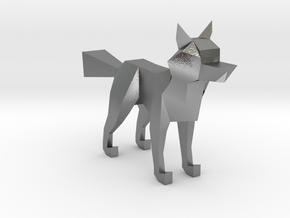 LOWPOLY FOX in Natural Silver