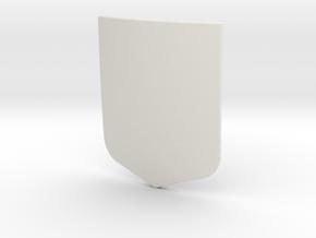 Modern Shield (Plain) in White Natural Versatile Plastic: Small