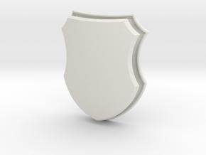 Badge Shield (Framed) in White Natural Versatile Plastic: Small