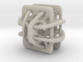 Borromean link nexus modified in Natural Sandstone