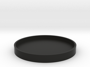 Okito Box Lid - Australia 50 Cent (Round) in Black Natural Versatile Plastic