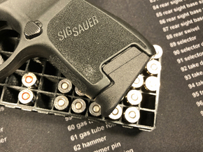 Sub-Compact Medium Extension for SIG P320 in Black Natural Versatile Plastic