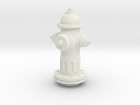 Fire Hydrant 1/20 scale in White Natural Versatile Plastic