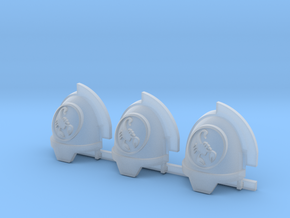 Scorpions Aggressive Shoulder Pads x3 R in Smooth Fine Detail Plastic