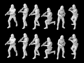 (Legion) 12x Clone Trooper Phase 2 in Smooth Fine Detail Plastic