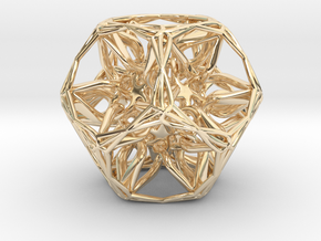 Organic Dodecahedron star nest in 14K Yellow Gold
