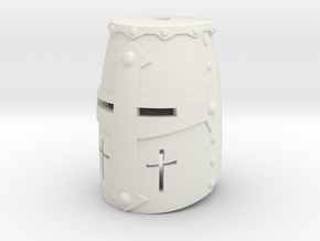 Crusader Helm (For Crest) in White Natural Versatile Plastic: Small
