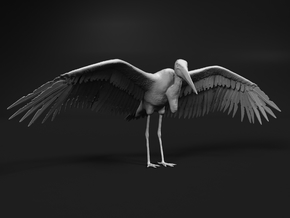 Marabou Stork 1:64 Wings Spread in Smooth Fine Detail Plastic