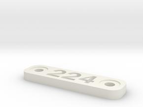 Caliber Marker - MLOK - 224 Valkyre in White Natural Versatile Plastic