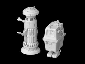 (1/47) FX-7 Medical Droid + GNK Power Droid in Smooth Fine Detail Plastic