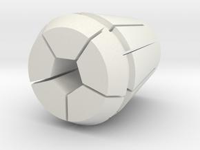 Collet-w-pen_.375 6-13-2018 in White Natural Versatile Plastic