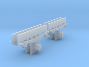 0m axleboxes 2mm in Smooth Fine Detail Plastic: 1:45