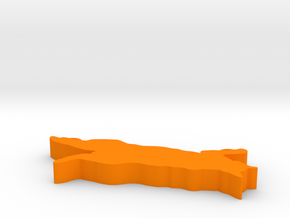 cat in Orange Processed Versatile Plastic