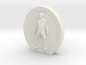 Cosmiton M George Washington - 45 mm in White Natural Versatile Plastic