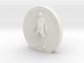 Cosmiton Fashion M -George Washington - 50 mm in White Natural Versatile Plastic