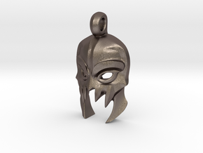DOTA 2 Morbid Mask Pendant in Polished Bronzed-Silver Steel