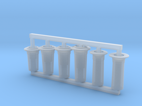 3mm - FR J1 E1 D1 Chimneys Full in Smooth Fine Detail Plastic