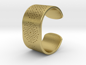 Quasicrystals Diffraction Pattern Bracelet in Natural Brass