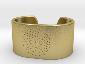 Quasicrystals Diffraction Pattern Bracelet - simpl in Natural Brass