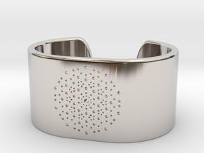 Quasicrystals Diffraction Pattern Bracelet - simpl in Platinum