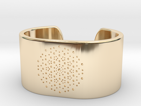 Quasicrystals Diffraction Pattern Bracelet - simpl in 14k Gold Plated Brass