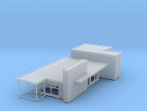 'N Scale' - Train Station in Smooth Fine Detail Plastic