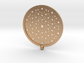 Quasicrystals Diffraction Pattern Pendant in Natural Bronze
