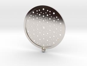 Quasicrystals Diffraction Pattern Pendant in Platinum