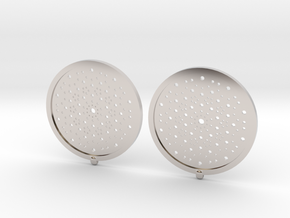 Quasicrystals Diffraction Pattern Pendant - earrin in Platinum
