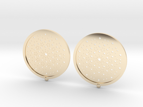Quasicrystals Diffraction Pattern Pendant - earrin in 14k Gold Plated Brass
