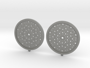 Quasicrystals Diffraction Pattern Pendant - earrin in Gray Professional Plastic