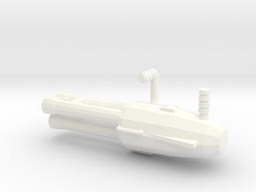 IDW Wrecker minigun in White Processed Versatile Plastic