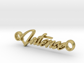 Intense Pendant - Metal in Natural Brass