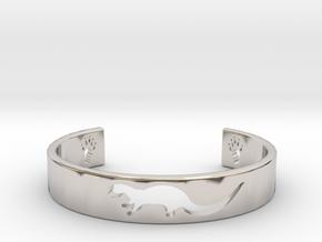Otter Bracelet in Rhodium Plated Brass: Medium
