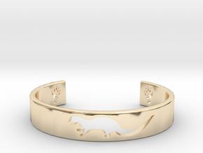 Otter Bracelet in 14k Gold Plated Brass: Medium