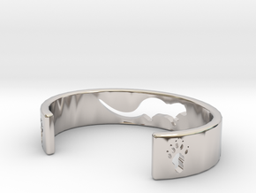 Otter Bracelet in Rhodium Plated Brass: Extra Small
