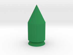 Small rocket in Green Processed Versatile Plastic