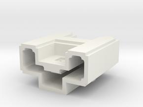 Puma Punku H-block 5,5cm (maximum printable size) in White Natural Versatile Plastic