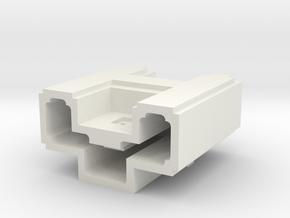 Puma Punku H-block 5,5cm (maximum printable size) in White Premium Versatile Plastic