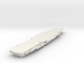 1/700 HMS Hermes without bridge or ski jump in White Natural Versatile Plastic