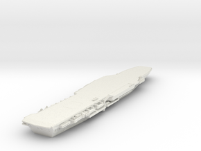 1/600 HMS Hermes without bridge or ski jump in White Natural Versatile Plastic