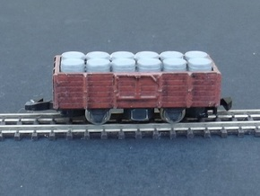 Wagon Tombereau Body - Nm - 1:160 in Smooth Fine Detail Plastic