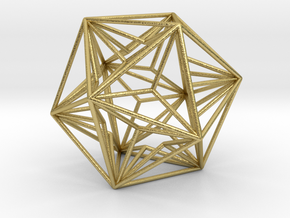 Great Dodecahedron in Natural Brass