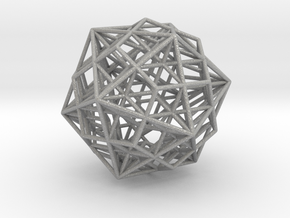 Great Dodecahedron / Dodecahedron Compound in Aluminum